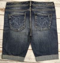 Silver J EAN S Shorts Buckle Low Rise Isabel Denim Cuffed Stretch Jean Short 28 - $17.85