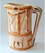 VINTAGE WADE ENGLAND HAND PAINTED GOLF BAG CREAMER PITCHER JUG  - $29.69