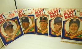 1988 MLB Tara Toy Superstar Plaque Lot of 5 Fisk Joyner Viola Molitor Tr... - $26.17