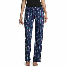 NWT $30Womens blue triangle Fleece Sleep lounge Pants Plaid Pajama Botto... - $14.84