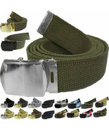 Military Web Belt Cotton Canvas Adjustable Camo Army Tactical Skater Webbed - $7.99+