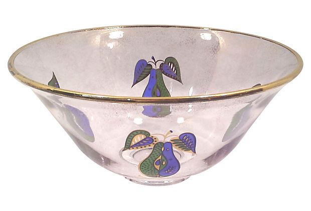 Vintage Georges Briard Serving Fruit Bowl