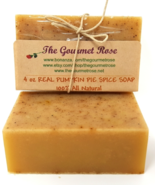 4 oz REAL PUMPKIN PIE SPICE SOAP Handmade All Natural Pure Ginger Cinnam... - $4.00