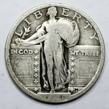 1921 Key date Standing Liberty Silver Quarter Coin Lot 519-74