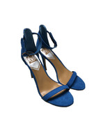 DOLCE VITA Milly Strappy Heel Sandals Shoes Sz 8.5 Blue Suede Ankle Strap - $37.37