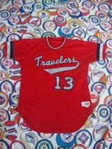 Vintage Little Rock Arkansas Travelers Authentic Baseball Jersey 44 L - $98.94