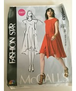 McCalls Sewing Pattern M6553 Fashion Star Miss MuMu Dress Easy Pullover ... - $11.69