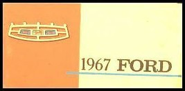 1967 Ford Car & Light Truck ORIG Owner's Manual - $11.22