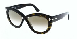 Brand New Tom Ford DIANE-02 TF577 52G Havana Gold Mirrored Authentic Sunglasses - $147.26