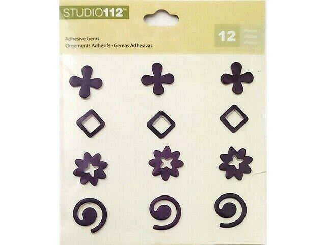 K&Company Studio 112 Purple Metallic Adhesive Gems #30-596214