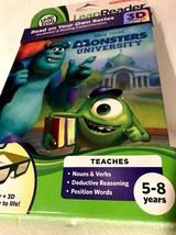 Leap Frog LeapReader 3D Book: Disney Pixar Monsters University with 3D G... - $8.90