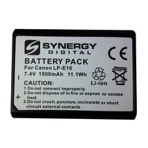 Synergy Digital Camera Battery, Works with Canon EOS Rebel T6á Digital C... - $24.99