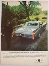 1963 Print Ad Cadillac 2-Door Man Admires New Car - $10.86