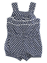 First Impressions Baby Girls Medieval Blue Star-Print Ruffle Romper - $15.00