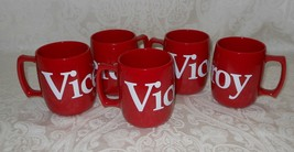 Lot 5 Collectible Viceroy Cigarette Coffee Tea Mugs Cups Red NEW Free Sh... - $36.99