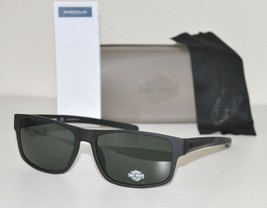 HARLEY DAVIDSON Men's Sunglasses HD0935X 02A Matte Black/Green NEW LARGE... - $54.40