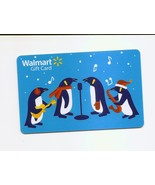 USED - WALMART Gift Card Holiday Penguins USED / NO VALUE - $1.66