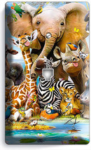 African Jungle Animals Phone Telephone Wall Plate Covers Baby Nursery Room Decor - $10.79
