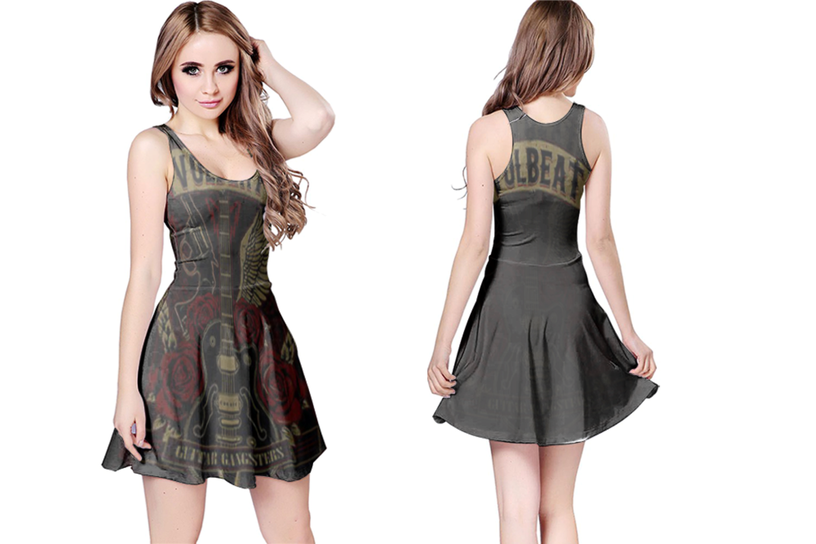 Volbeat  WOMENS REVERSIBLE SLEEVELESS SHORT MINI DRESS
