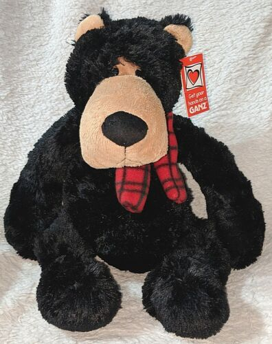 GANZ HX11403 Polyester Fiber 17 Inch Winter Jett The Black Bear