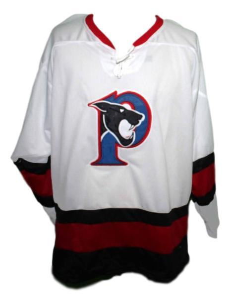 Penticton panthers retro hockey jersey white  1