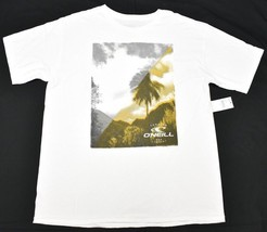 O'Neill T-Shirt Men's Size L Valley Print Graphic Tee Premium Tee White P038 - $16.95