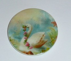 """Beautiful Swan w/ FlowerGarland on MOP - Mother Pearl Shank Button 1-3/8"""" - $11.99"""