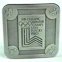 Olympic Winter Games 1980 Lake Placid NY Metal Belt Buckle XIII True Dis... - $17.31