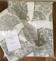 Pottery Barn Samantha Duvet Cover Porcelain Blue Queen 2 Standard Shams ... - $177.65