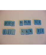 16 Blue Plastic Letters French Spellmaster Pieces For Crafts - $4.95