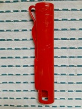 VINTAGE HASBRO RED PLASTIC GOLF BAG PENCIL CASE - $7.92