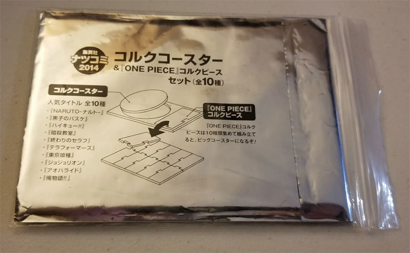 One Piece / Naruto Shippuden Comiket NFS All-Star Coaster Set * Anime