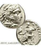 Raro Alexander Del Gran Vida Antiguo Griego Moneda de Plata Herakles Dem... - $339.50