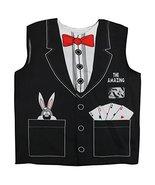 Trendy Apparel Shop Kid's Junior Costume Magician Shirt Vest - BLACK - $24.99