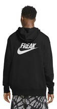 Nike Men's Giannis Greek Freak Pullover Hoodie Size Medium Black CZ0439-010 - $63.69