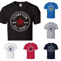 CUSTOM Converse Compton All Star Short Sleeve T-Shirt Tee S~XL Big Size ... - $15.79+