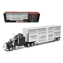 Kenworth W900 Pot Belly Livestock Black 1/43 Model by New Ray NR15243 - $29.34