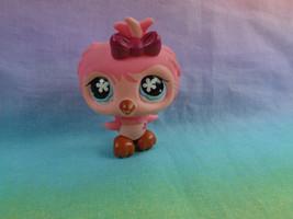 Littlest Pet Shop Pink Bird Owl Flower Eyes #496 - stained - $2.23