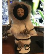 Alaskan Eskimo Memeluch Fur Doll W/ Stand, Marzelak - $15.00