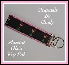 Martini Glass Key Ring, Martini Glasses Key Chain, Martini Glasses Key Fob - $6.75