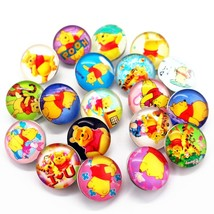 20pcs Winnie The Pooh Snaps Buttons 18mm Cartoon Snaps Charms Fit Ginger... - $17.21
