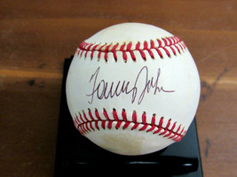 TOMMY JOHN 4 X A/S NY YANKEES DODGERS SIGNED AUTO GAME USED OAL BASEBALL... - $118.79