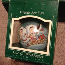 Vintage 1986 Friends Are Fun Glass Hallmark Orn... - $10.00