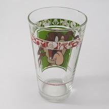 """1999 Warner Bros 5 3/4"""" Looney Tunes Tasmanian Devil Drinking Glass AS IS image 2"""