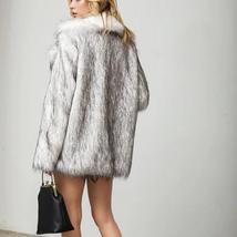 Women's Winter Luxury Fashion Faux Fur Coat image 5
