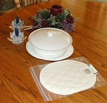 Longaberger Large Trivet 2 Hot Pads Tea Tray Pads Use for Pottery Or Bas... - $21.73