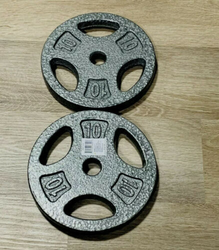 """2.5lb 1"""" Grip Barbell Free Weight Plate Cast Iron Standard Hole Gray Lifting Vtg"""