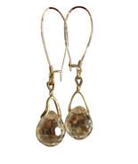 Vintage Swarovski Crystal Ball Drop 18K GP Earrings Heavy Solid Crystal ... - $36.00