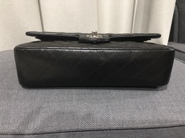 100% Authentic Chanel BLACK QUILTED LAMBSKIN MEDIUM CLASSIC DOUBLE FLAP BAG SHW image 14
