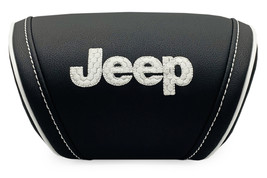 Jeep Cushion Car Travel Pillow Embroidery Headrest Neck Support Rest Whi... - $35.00